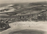 Picture relating to Gold Coast - titled 'Aerial view looking towards Greenmount and Tweed Heads, Gold Coast, ca. 1952'