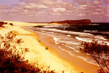 Picture relating to Fraser Island - titled 'Corroboree Beach & 4 x 4 wheel Drive road to Indian Head, Fraser Island'