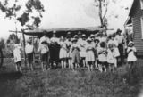 Picture relating to Eidsvold - titled 'People gathered for the opening of the Cynthia School, Eidsvold district, 1928'