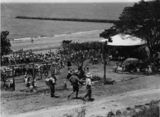Picture relating to Shorncliffe - titled 'Radio 4BH Kookaburra Club picnic at Shorncliffe, 1936'