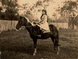 Picture relating to Queensland - titled 'Girl sitting astride her horse, 1910-1920'